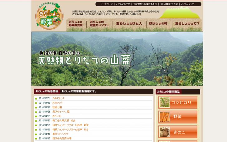 新潟から産地直送 魚沼産コシヒカリや野菜、すいかの通販 おらしょの野菜