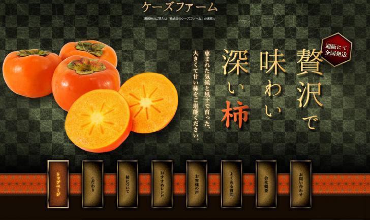 高級柿の通販は【ケーズファーム】
